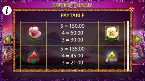 Lucky Tree Review Slots Free Games - Medium Value Slot Game Symbols Paytable.