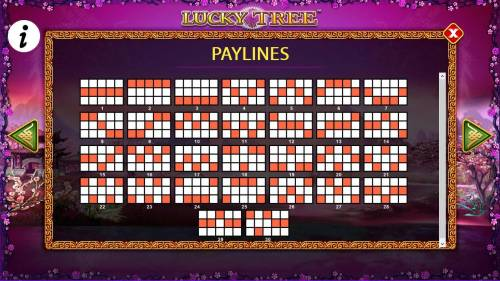 Lucky Tree Review Slots Payline Diagrams 1-30