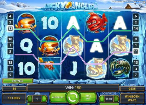 Lucky Angler Review Slots a couple of winning paylines triggers a 180 coin jackpot