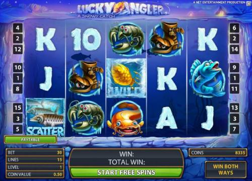Lucky Angler Review Slots free spins bonus feature game board