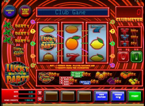 Lucky Darts Review Slots alternate game board featuring 3 reels and 5 paylines