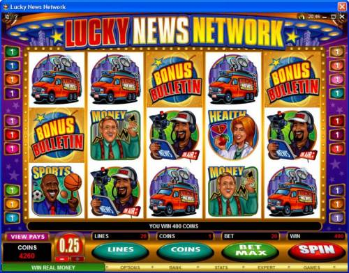 Lucky News Network review on Review Slots