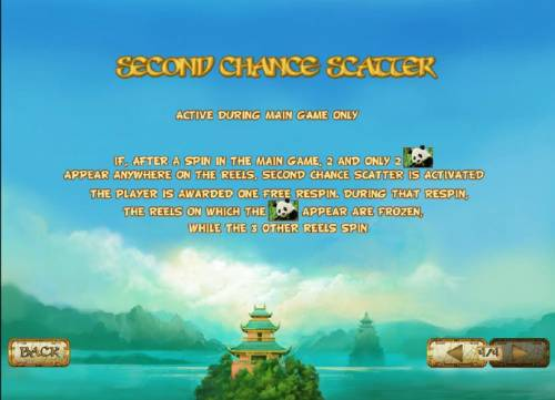 Lucky Panda Review Slots sceond chane scatter is active during main game only