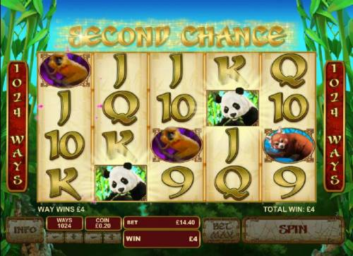 Lucky Panda Review Slots during second chance, the three reels will spin automatically giving you another chance at landing on a third scatter symbol