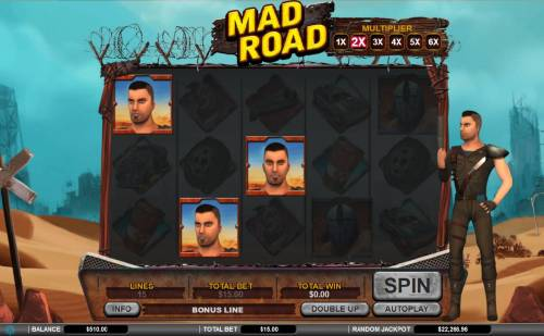 Mad Road Review Slots Three Billy scatter symbols triggers the bonus round.