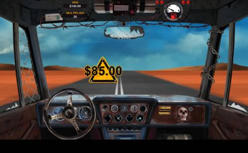 Mad Road Review Slots Bonus game play ends when you run out of fuel.