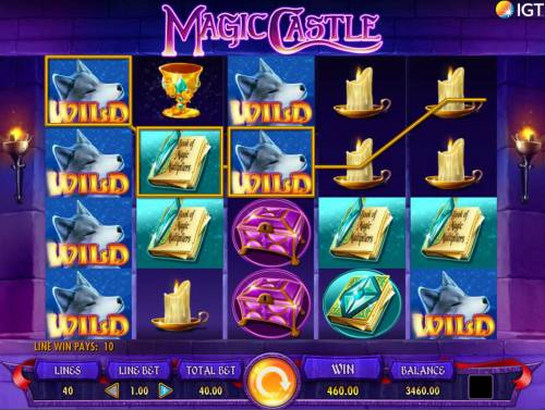 Magic Castle Review Slots Wild feature triggers multiple winning paylines.