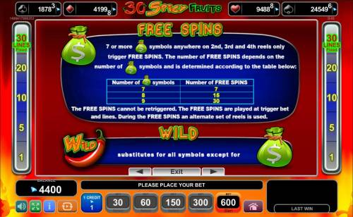 Magic Castle Review Slots Free Spins Bonus Rules - 7 or more money bag symbols anywhere on 2nd, 3rd and 4th reels only trigger Free Spins.