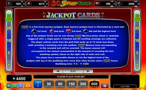 Magic Castle Review Slots Jackpot Cards Mystery Bonus - Any of the jackpot levels can be won during the bonus feature which is randomly triggered.