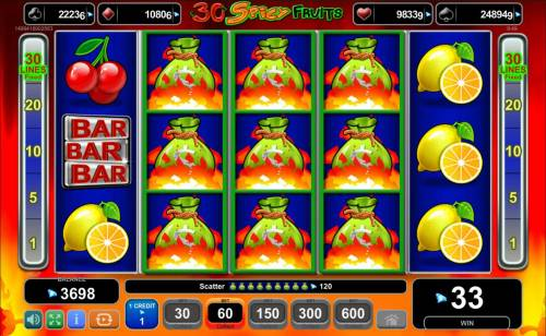 Magic Castle Review Slots Seven or more money bags scatters on reels 2, 3 and 4 triggers the free spins feature