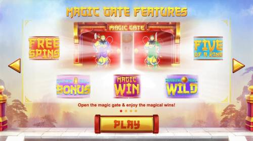Magic Gate Review Slots Game features include: Free Spins, Golden Bell Bonus, Magic Win, Dragon Ball Wild and Five of a Kind.
