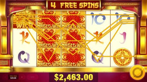 Magic Gate Review Slots Multiple winning paylines triggers a big win during the free spins feature!