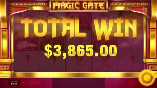 Magic Gate Review Slots Total Free Spins Payout 3,865.00