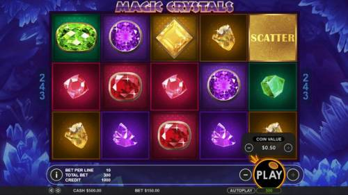 Magic Crystals Review Slots Click the plus or minus signs to change the bet level and/or coins per line.