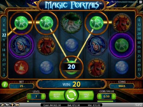 Magic Portals Review Slots tyrpical 20 coin payout