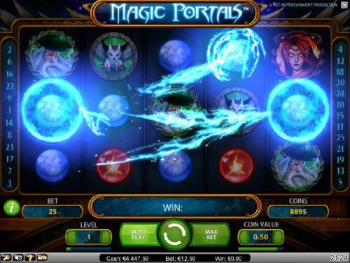 Magic Portals Review Slots transformation feature triggered by two identical symbols landing on the magic portals located on reels one and five