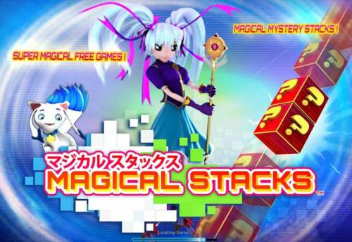 Magical Stacks Review Slots Splash screen - game loading - Asian Anime Themed