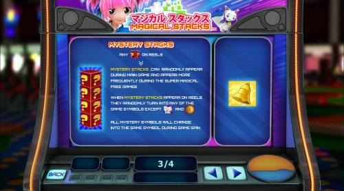 Magical Stacks Review Slots Mystery stacks can randomly appear during main game and appear more frequently during the Super Magical Free Games.