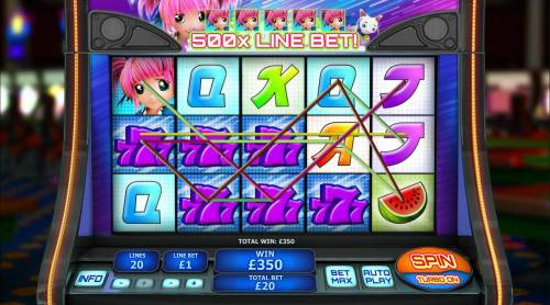 Magical Stacks Review Slots A 350.00 big win triggered by multiple winning paylines.