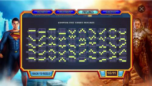Man of Steel Review Slots Krypton Free Games Paylines 1-50