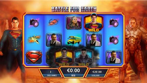 Man of Steel Review Slots Whenever Super collides with a villian on the same row, a battle will begin, the resulting victory will determine whether the free games feature continus or ends.