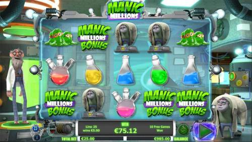 Manic Millions review on Review Slots