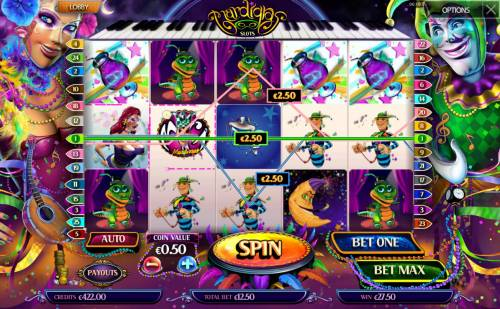 Mardi Gras Review Slots Multiple winning paylines triggers a big win