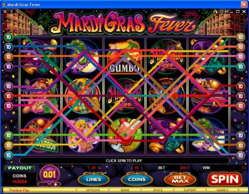 Mardi Gras Fever review on Review Slots