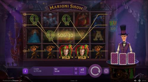 Marioni Show Review Slots Multiple winning paylines triggers a big win and add 2 cards to the croupiers cards.!