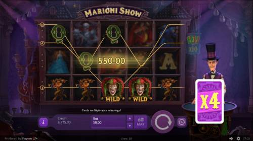 Marioni Show Review Slots X4 multiplier will be applied to the current winnings