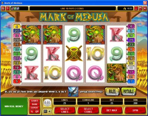 Mark of Medusa review on Review Slots