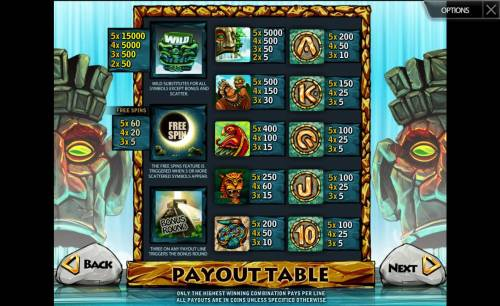 Mayan Secret Review Slots Slot game symbols paytable. Only the highest winning combnation pays per line. All payouts are in coins unless specified otherwise.