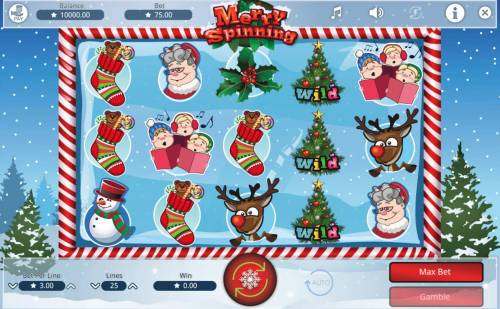 Merry Spinning Review Slots Main Game Board