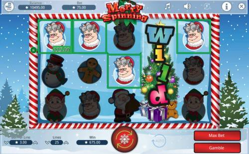 Merry Spinning Review Slots Multiple winning paylines triggers a big win