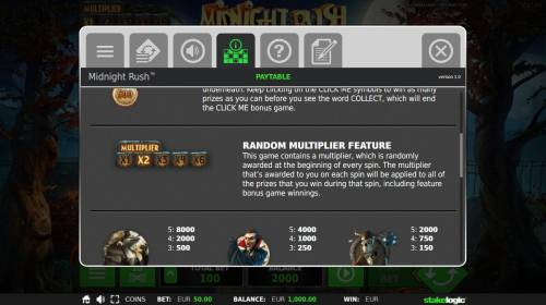 Midnight Rush Review Slots Random Multiplier Feature Rules