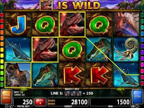 Mighty Rex Review Slots Multiple winning paylines triggers a big win during the free games feature!