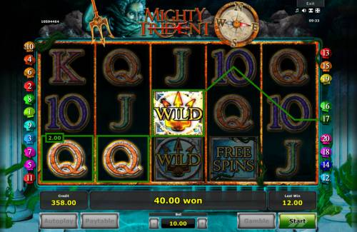 Mighty Trident Review Slots Multiple winning paylines