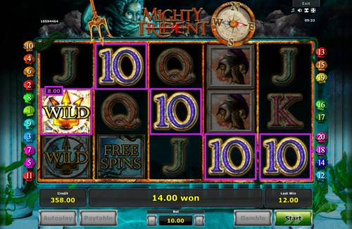 Mighty Trident Review Slots A winning five of a kind