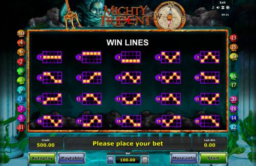 Mighty Trident Review Slots Paylines 1-20