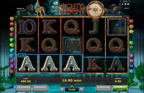 Mighty Trident Review Slots Reel shift continues until no more winning combinations appear