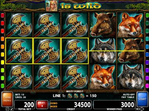 Misty Forest Review Slots Multiple winning paylines triggers a 3000 coin big win!