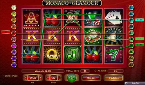 Monaco Glamour Review Slots Multiple winning paylines