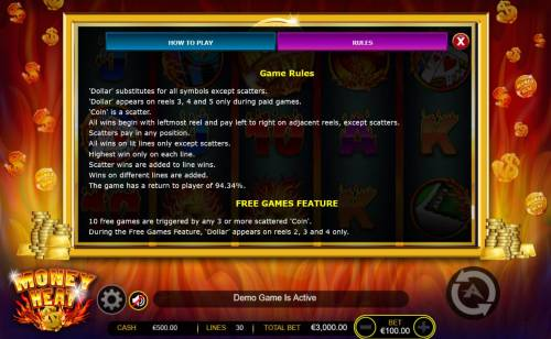 Money Heat review on Review Slots