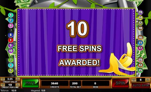 Monkey in the Bank Review Slots 10 Free Games Awarded