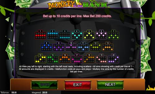 Monkey in the Bank Review Slots Paylines 1-20