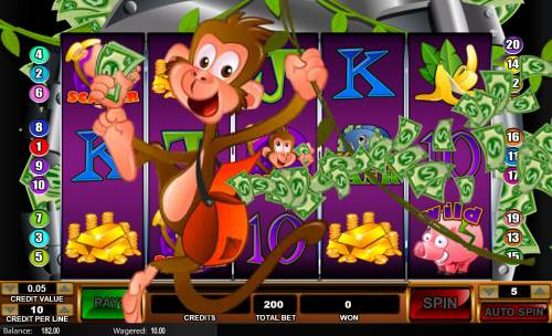 Monkey in the Bank Review Slots Scatter Win
