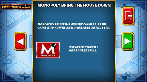 Monopoly Bring the House Down review on Review Slots