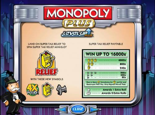 Monopoly Plus Review Slots super tax relief paytable