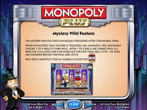 Monopoly Plus Review Slots mystery wild feature randomly triggered