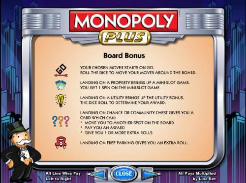 Monopoly Plus Review Slots how to play board bonus